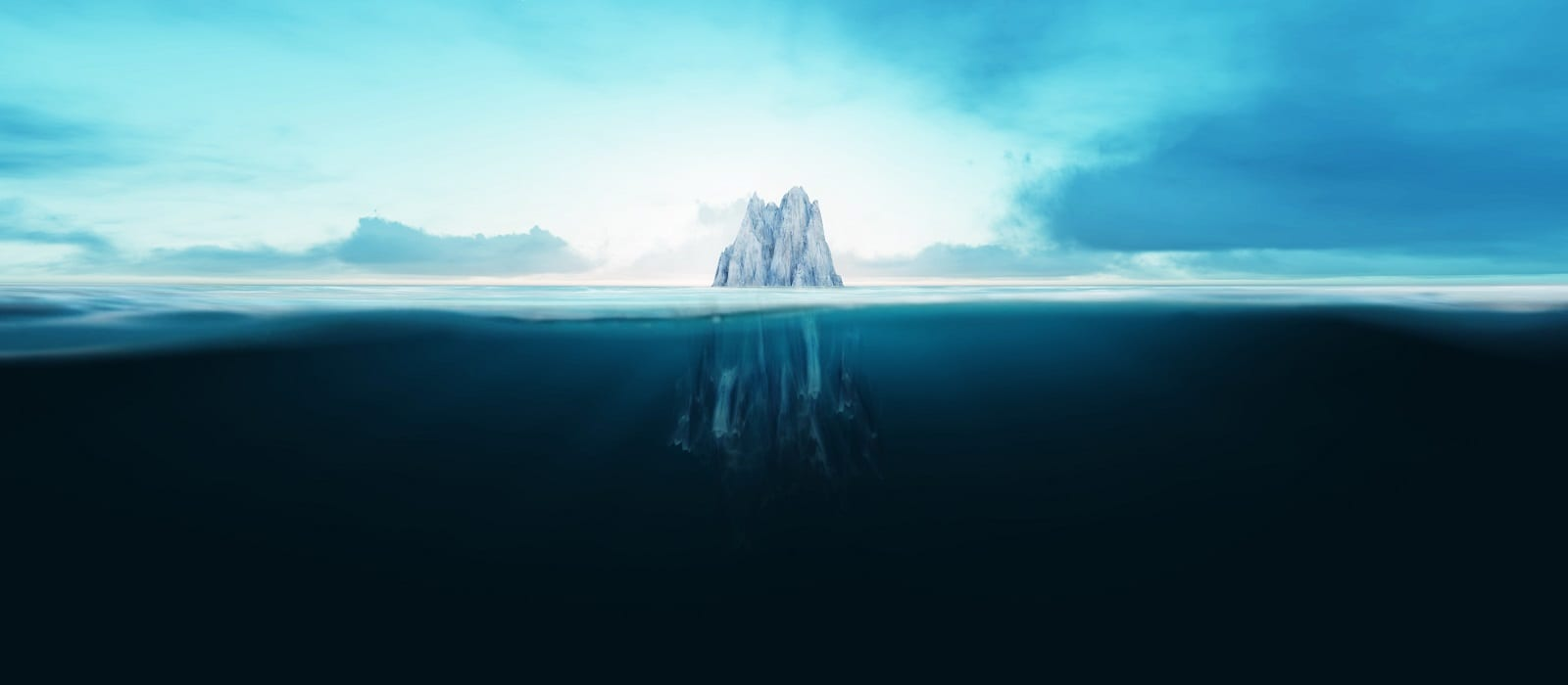 Iceberg underwater in the ocean
