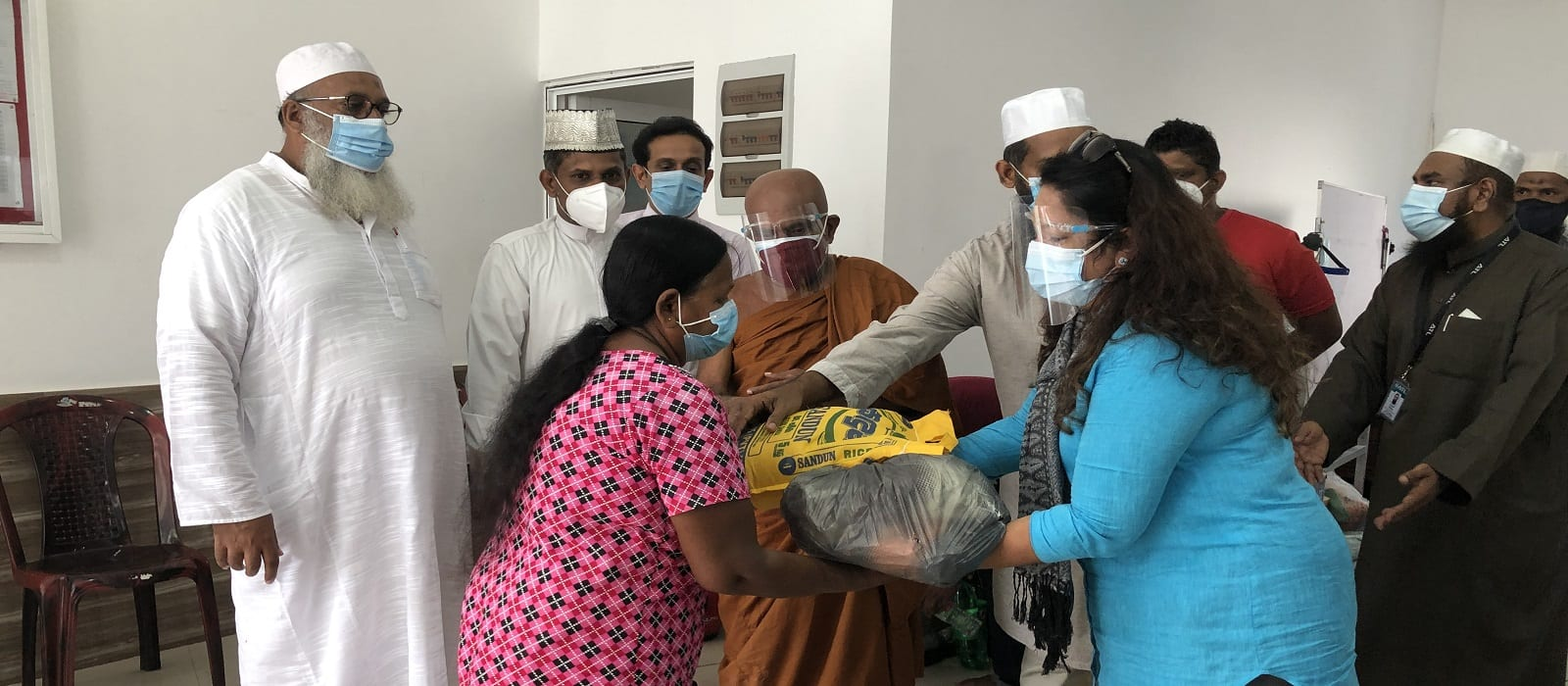 Amana Takaful Distribution of Dry Rations to those affected